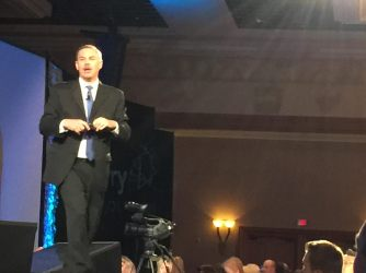 Stefan Swanepoel speaks at Tom Ferry's 2016 Success Summit in Las Vegas.