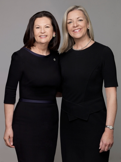 Ellie Johnson, president of New York Properties and Candace Adams, CEO of New England Properties/Westchester Properties