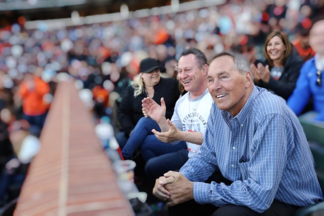 Gino Blefari and Dwight Clark